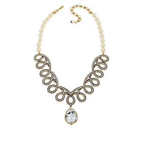"""Heidi Daus """"Elegant Abundance"""" Beaded Crystal Drop Necklace"""