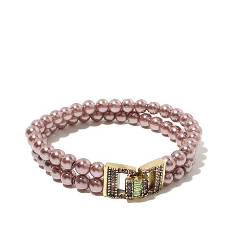 "Heidi Daus ""Everyday Elegance"" 2-Strand Beaded Bracelet"
