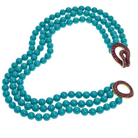 "Heidi Daus ""Fascinating Fascinator"" 3-Strand Beaded Necklace"