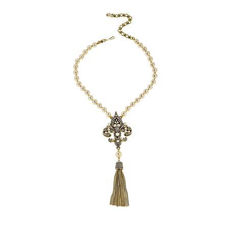 "Heidi Daus ""Fleur'd Fabulous"" Tassel Drop Necklace ..."