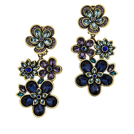 Exclusive Heidi Daus Flower Show Crystal Drop Earrings