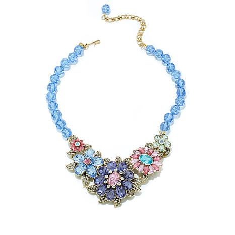 "Heidi Daus ""Glorious Garden"" Beaded Crystal Necklace"