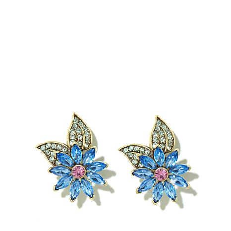 "Heidi Daus ""Glorious Garden"" Crystal Earrings"