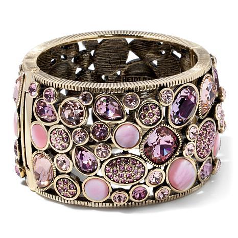 "Heidi Daus ""I Confess"" Crystal Bangle Bracelet"