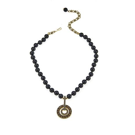"Heidi Daus ""Infinity and Beyond"" Beaded Crystal Drop Necklace"