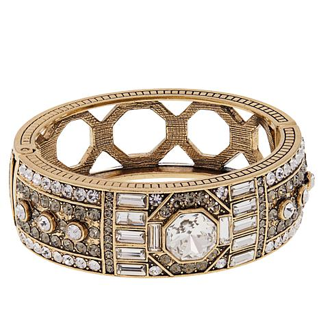 "Heidi Daus ""Lavish Layers"" Crystal-Accented Bangle Bracelet"