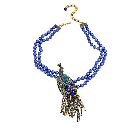 """Heidi Daus """"Let Down Your Feathers"""" Beaded Crystal Drop Necklace"""