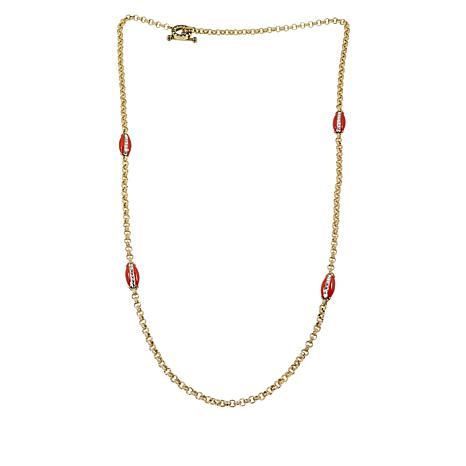 """Heidi Daus """"Madison & 68th"""" Enamel and Crystal Toggle Necklace"""