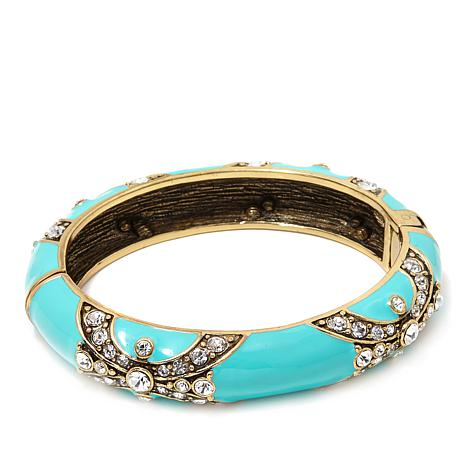 "Heidi Daus ""Newport Chic"" Enamel Bangle Bracelet"