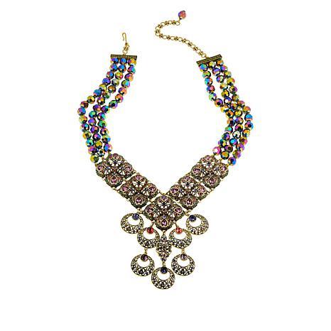 "Heidi Daus ""O-Ace's"" Beaded Crystal Drop Necklace"