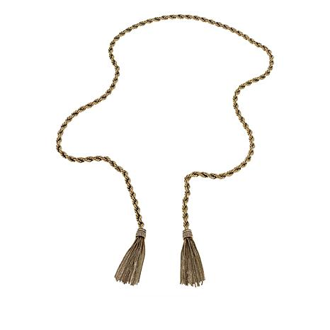 "Heidi Daus ""Old School Jewels"" Tassel Drop 44-1/2"" Lariat Necklace"