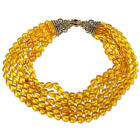 "Heidi Daus ""Polished Elegance"" Beaded Crystal Necklace"