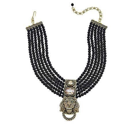 "Heidi Daus ""Pride of the Jungle"" Beaded 6-Strand Drop Necklace"
