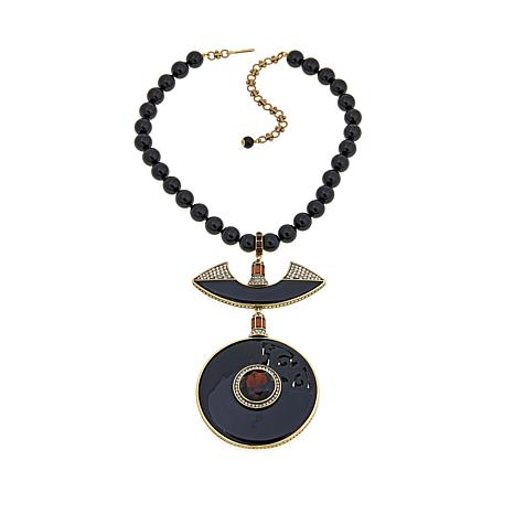 "Heidi Daus ""Set the Tone"" Beaded Drop Necklace"
