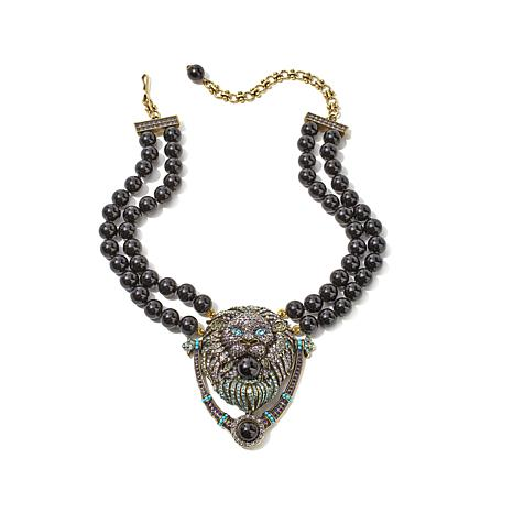 "Heidi Daus ""Someone's Knocking"" Beaded Drop Necklace"