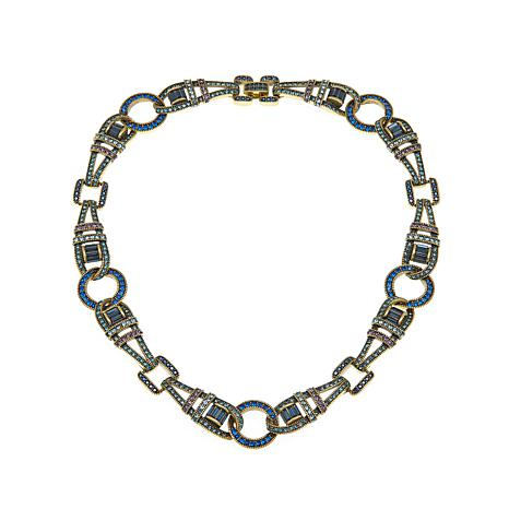 "Heidi Daus ""Sparkling Attraction"" Crystal Link Necklace"