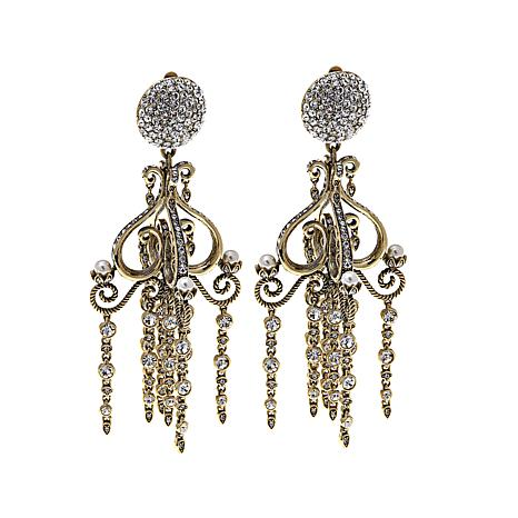 "Heidi Daus ""Sparkling Chandelier"" Crystal Drop Earrings"