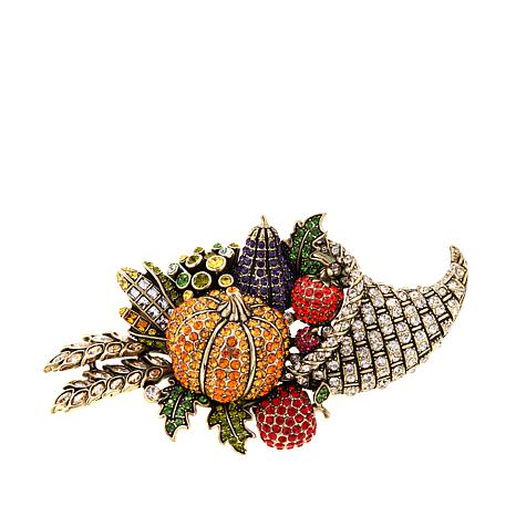 "Heidi Daus ""Thanks-Giving"" Crystal Pin"