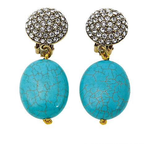 "Heidi Daus ""The Big Pretty"" Crystal-Accented Drop Earrings"