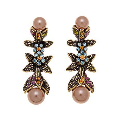 "Heidi Daus ""Vine and Divine"" Simulated Pearl Earrings"