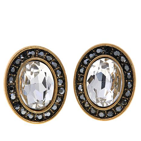 "Heidi Daus ""Worth Waiting For"" Crystal Button Earrings"