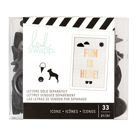 Heidi Swapp Letter Board Icons and Party Word Bundle