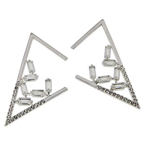"""Herkimer Mines """"Diamond"""" Quartz and White Topaz Earrings"""