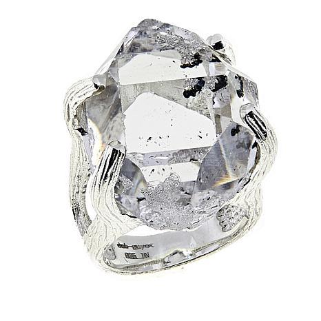 """Herkimer Mines """"Diamond"""" Quartz """"Mambo"""" Ring"""