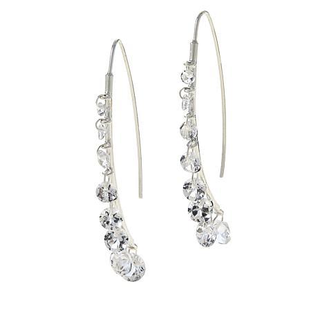 "Herkimer Mines Sterling Silver ""Diamond"" Quartz Stiletto Wire Earrings"