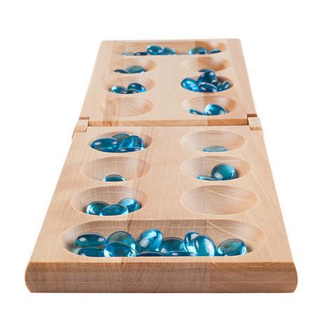 Hey! Play! Wooden Folding Mancala Game