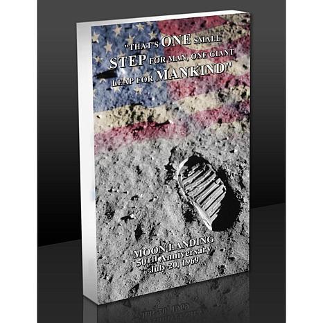 Highland Mint Moon Landing Footprint 3-D Acrylic BlocKart