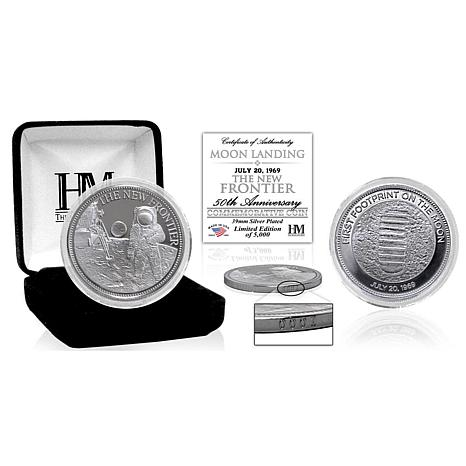 """Highland Mint Moon Landing """"The New Frontier"""" Silver Mint Coin"""