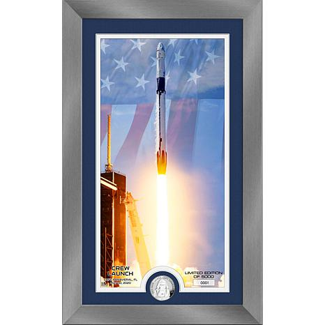 Highland Mint NASA Dragon Crew Launch Silver Coin Supreme Photo Mint