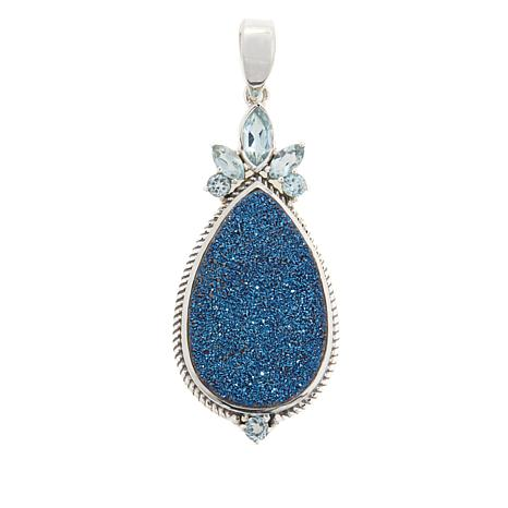 Himalayan Gems™ Blue Drusy and Blue Topaz Pendant