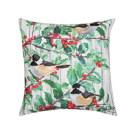 Holly & Bird Indoor Outdoor Pillow