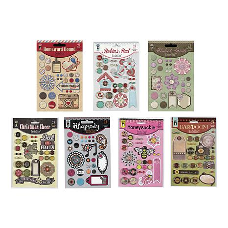 Hot Off The Press Embellishments Brads and Die Cuts