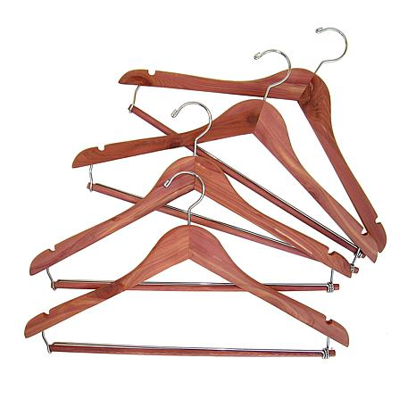 Household Essentials Cedar Hanger with Locking Bar 4pk