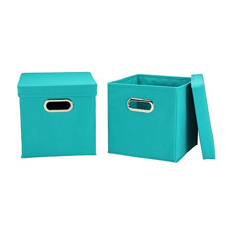 Household Essentials Storage Cube 2-pack - Aqua