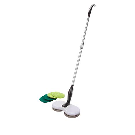 Hover Cleaner Cordless Mop with Rotating Heads& 4 Cleaning Pads