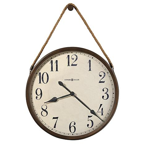 """Howard Miller """"Bota"""" Country Wall  Clock on a Rope"""
