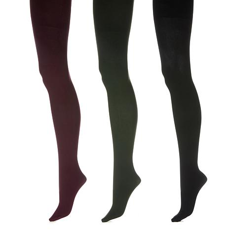 HUE 3pk Contoured Fit Smoothing Opaque Tights