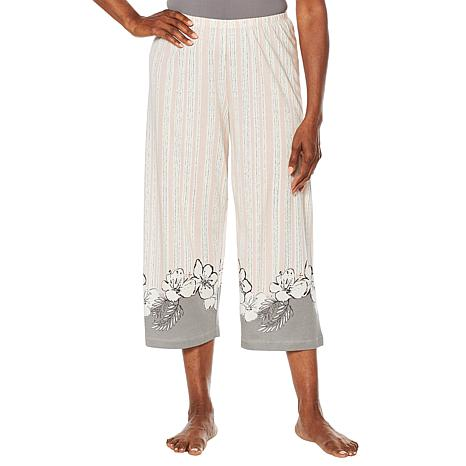b62cddc8534 Hue Printed Capri Pajama Pant - Missy - 8890926