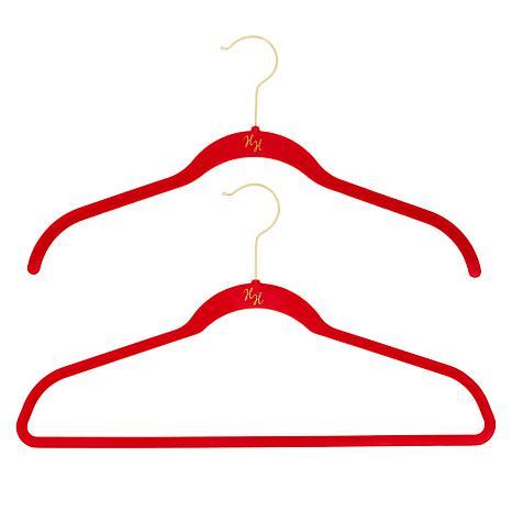 Huggable Hangers with Odor Eliminators Brass 74-piece Set