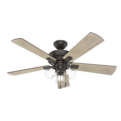 "Hunter 52"" Crestfield Ceiling Fan with LED Light Kit and Pull Chain"