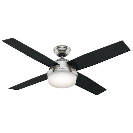"Hunter 52"" Dempsey Ceiling Fan with Light and Handheld Remote"