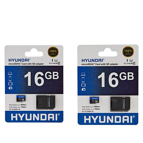 Hyundai 2-pack 16GB microSD Memory Cards