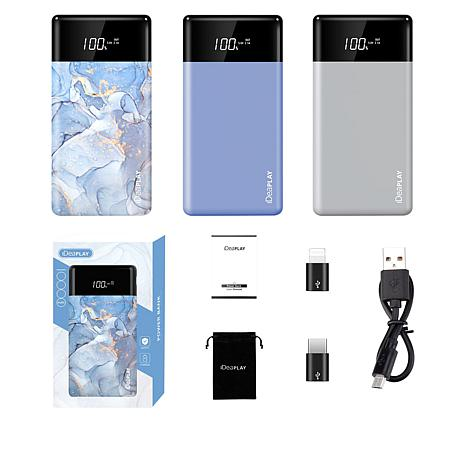 iDeaPLAY 10,000mAh Power Bank 3-Pack with Case