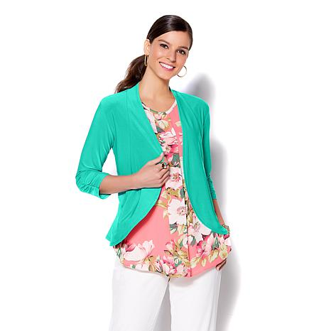 IMAN Global Chic Luxury Resort Cascading Cardigan
