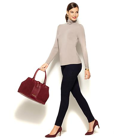 IMAN Platinum Comfortable Stretchy City Chic Turtleneck