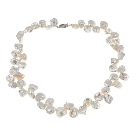 """Imperial Pearls 10-12mm Cultured Keshi Pearl 18"""" Necklace"""